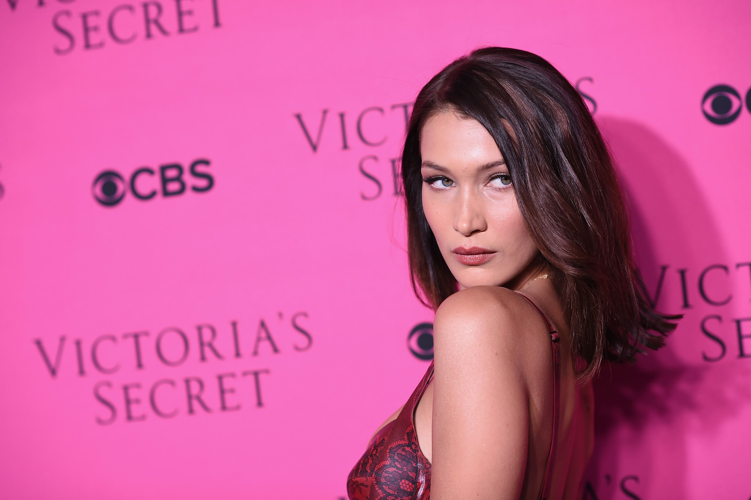 Bella Hadid at the Victoria's Secret Angels intimate viewing party of the 2017 Victoria's Secret Fashion Show at Spring Studios on November 28, 2017 in New York City. | Source: Getty Images