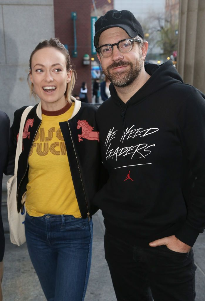 """Olivia Wilde and Jason Sudeikis arrivingv at the opening night of """"In & Of Itself"""" at The Daryl Roth Theatre in New York City 