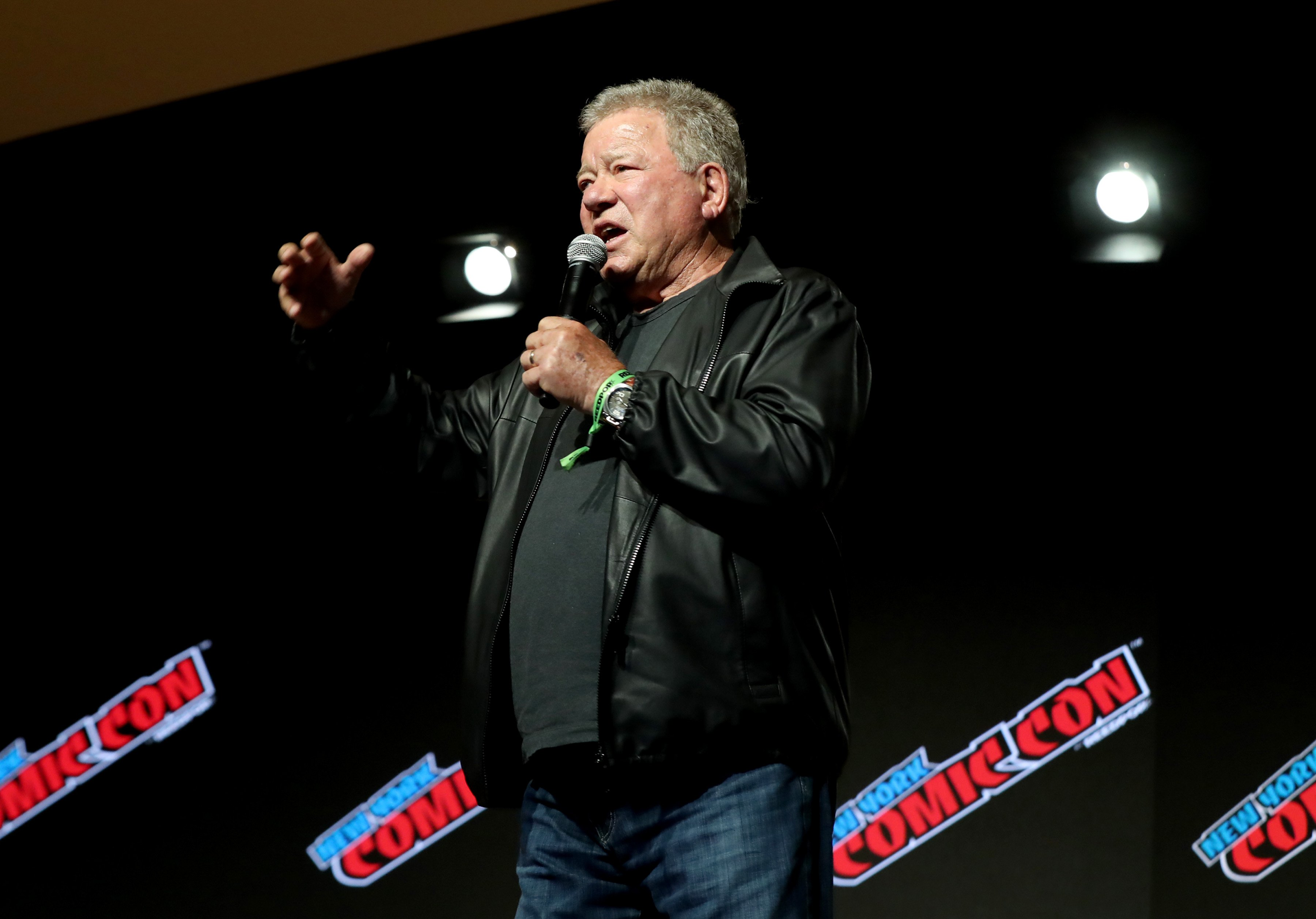 William Shatner at the William Shatner Spotlight panel during Day 1 of New York Comic Con 2021 at Jacob Javits Center in New York City | Photo: Bennett Raglin/Getty Images for ReedPop