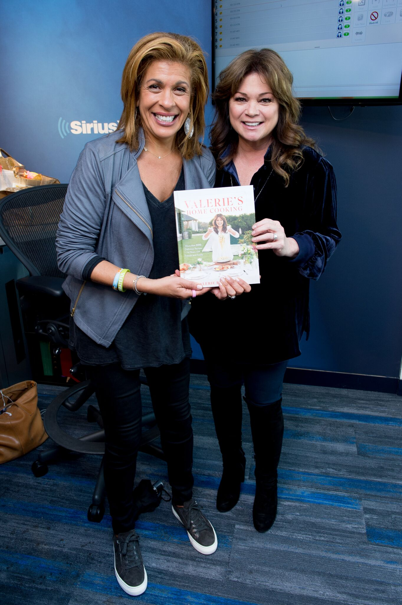 Hoda Kotb with Valerie Bertinelli as she visits Sirius XM | Getty Images