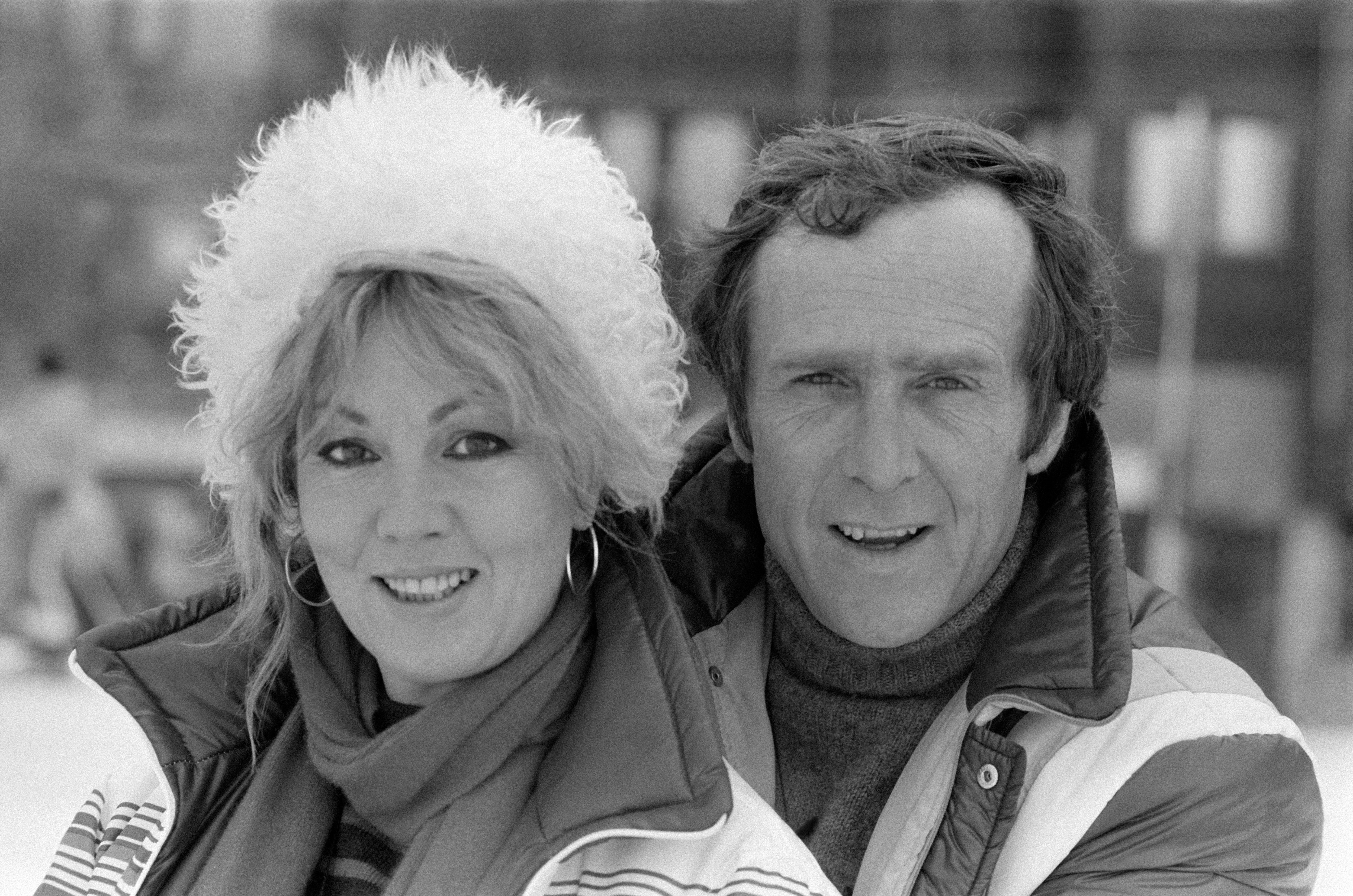 Mylène Demongeot et son mari Marc Simenon au Festival d'Avoriaz le 23 janvier 1982, France. | Photo : Getty Images