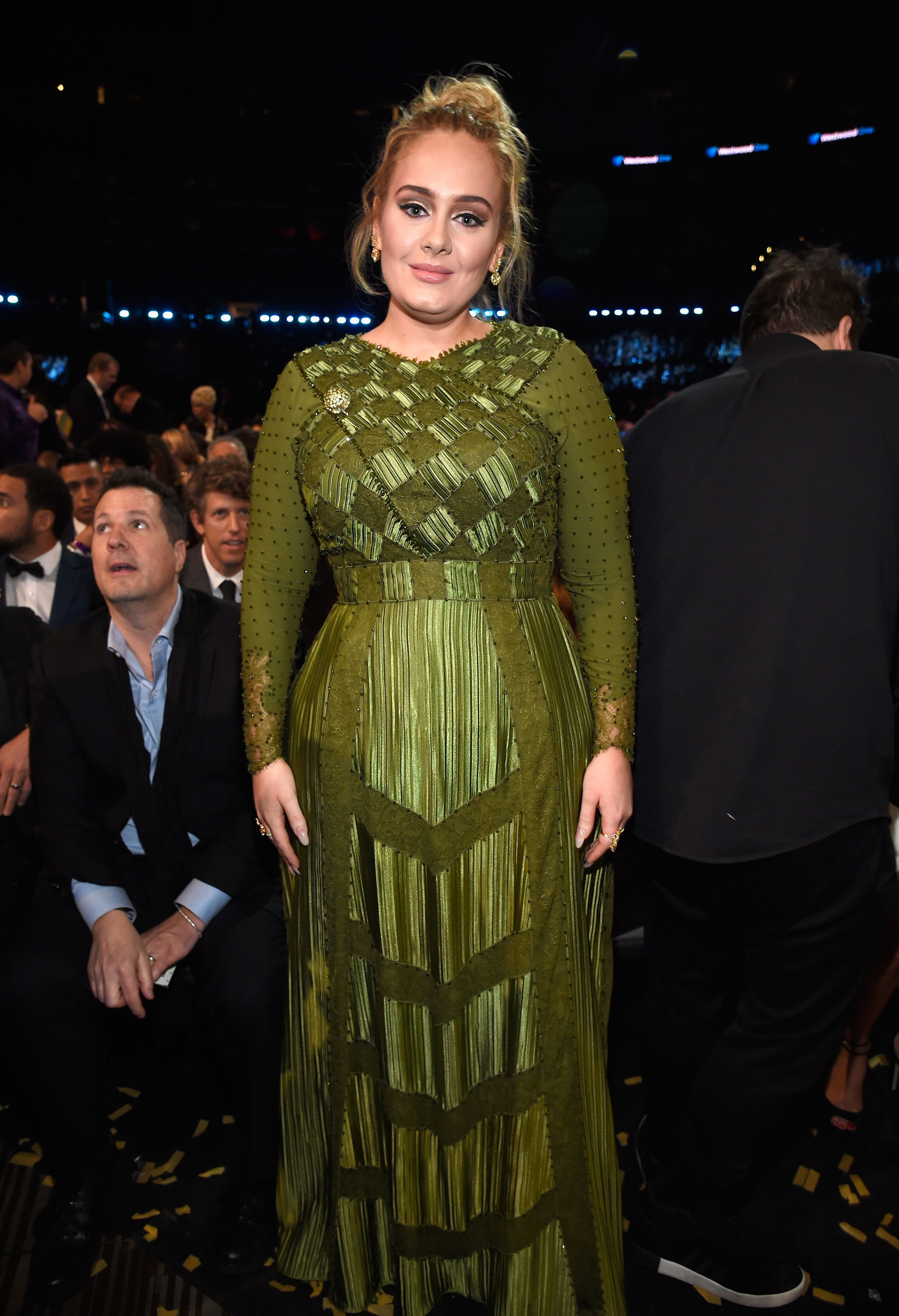 Adele during The 59th GRAMMY Awards at STAPLES Center on February 12, 2017 in Los Angeles, California.   Source: Getty Images
