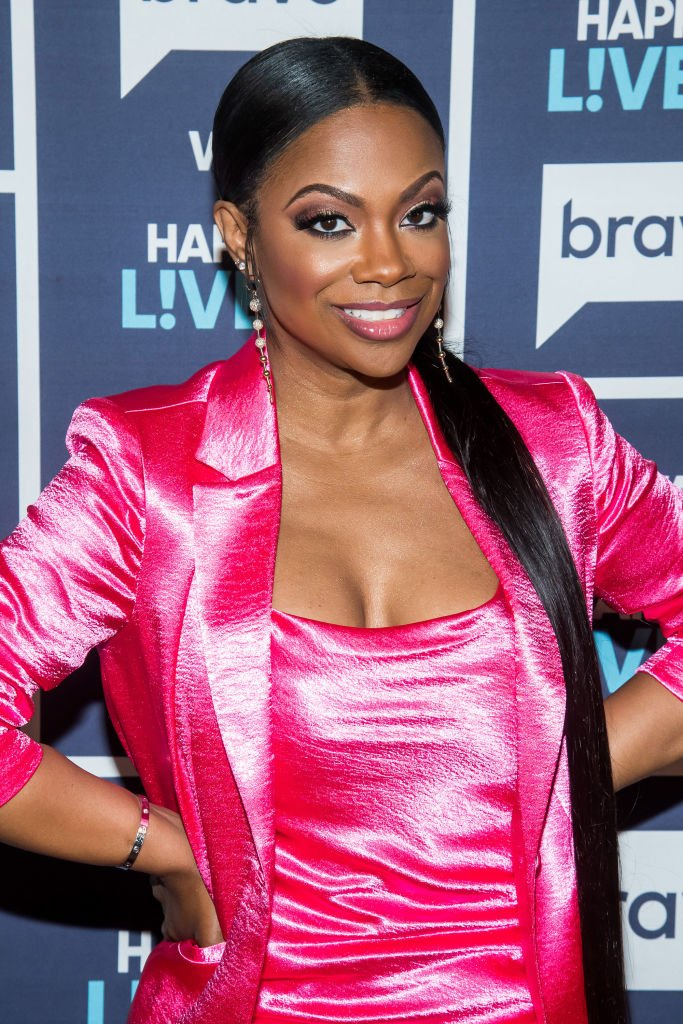"""Reality star Kandi Burruss during her TV guesting on """"Watch What Happens Live With Andy Cohen"""" in NBCUniversal. 