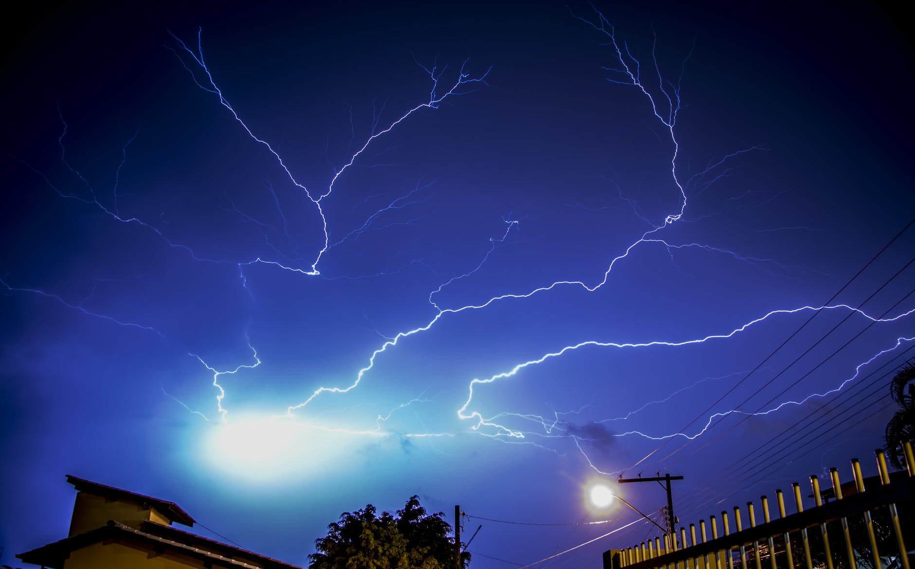 A lightning storm cut out their power.  Source: Pexels
