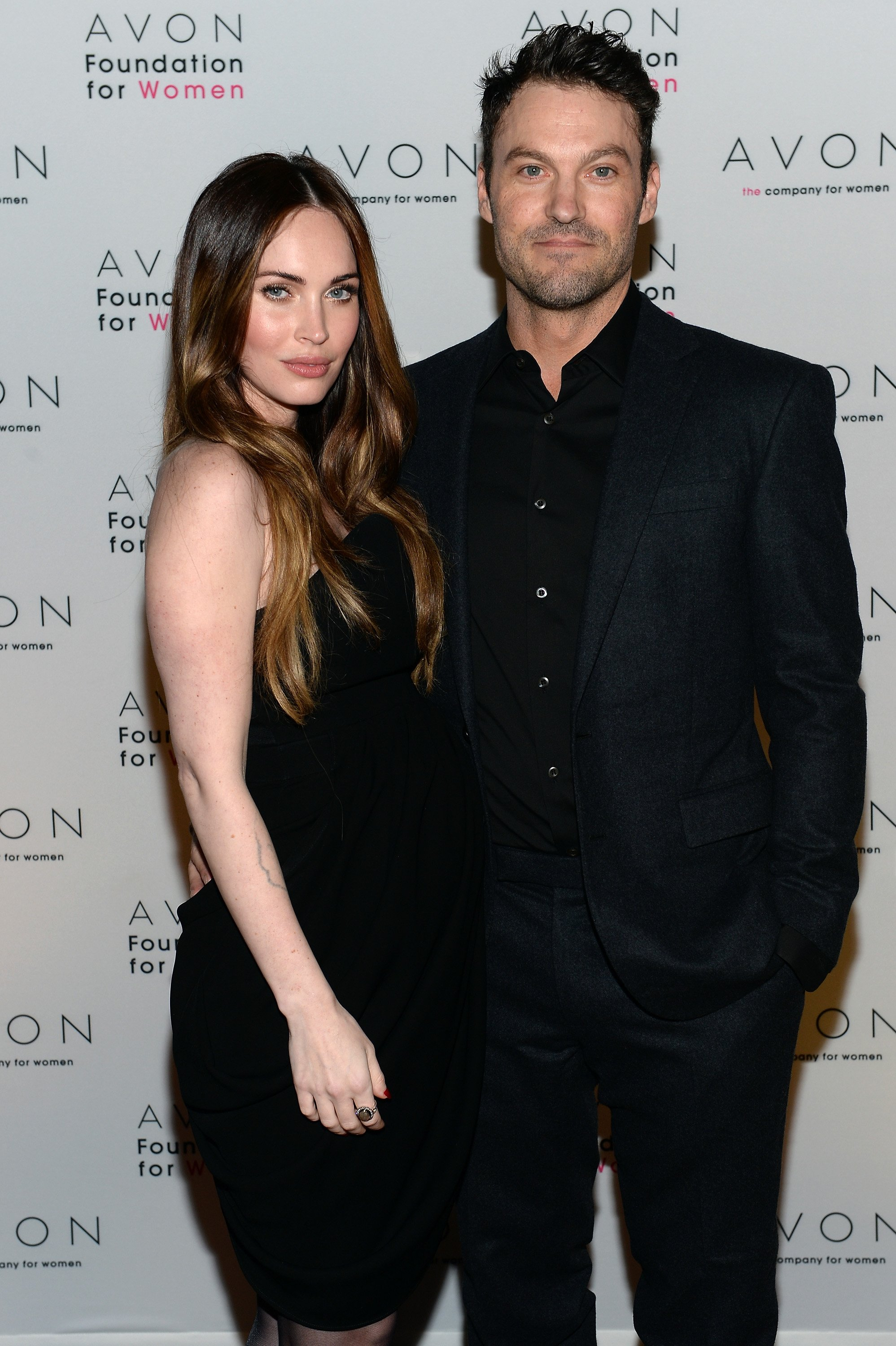 Megan Fox and Brian Austin Green during a 2013 launching event in New York City.