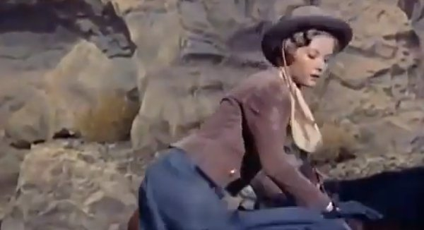 "Barbara Bates in ""Apache Territory."" 