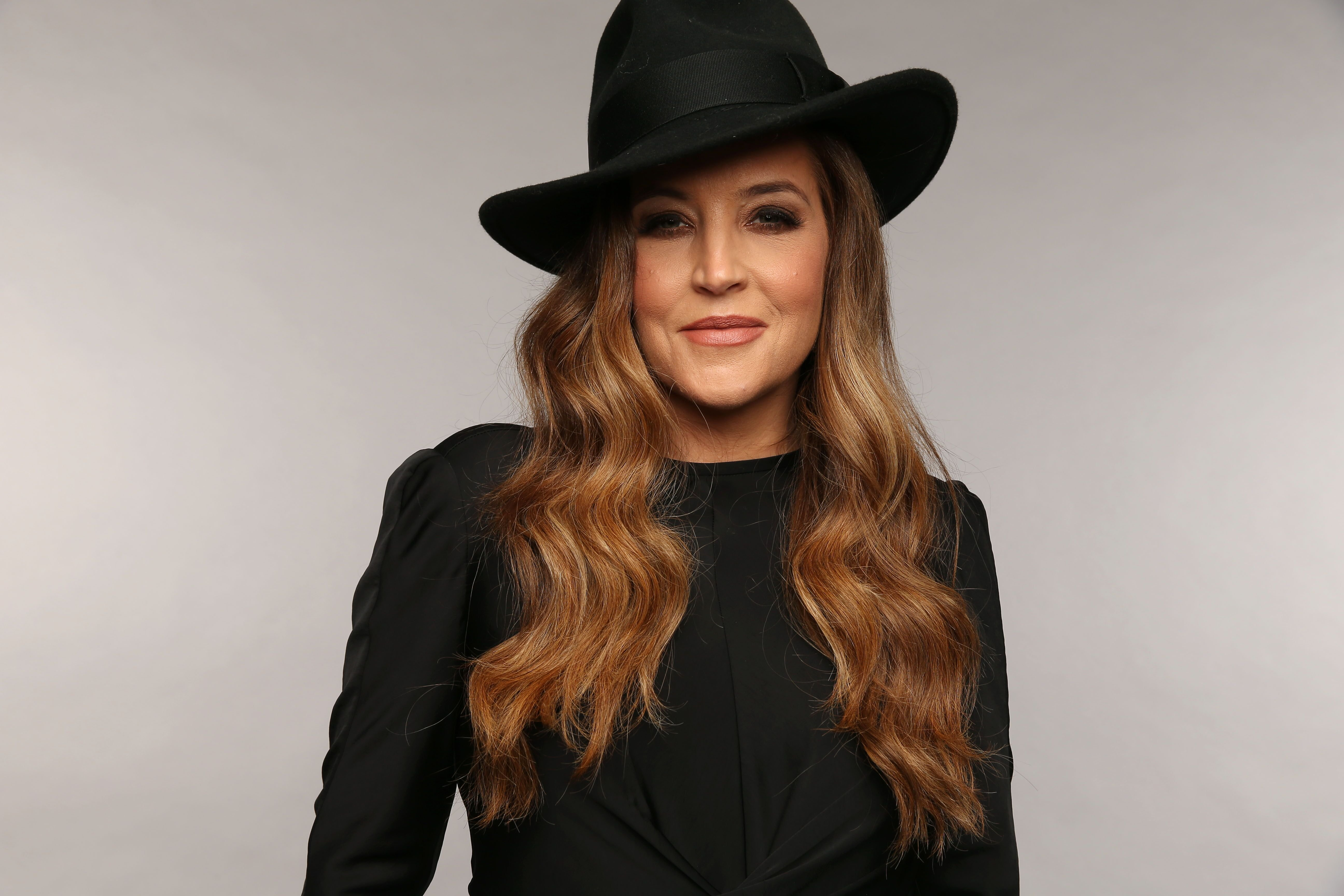 Lisa Marie Presley in black. | Source: Getty Images