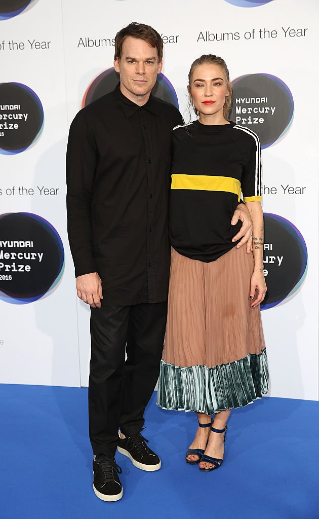 Michael C. Hall and his wife Morgan Macgregor pose for a photo at the Hyundai Mercury Prize 2016 at Eventim Apollo on September 15, 2016 | Photo: Getty Images
