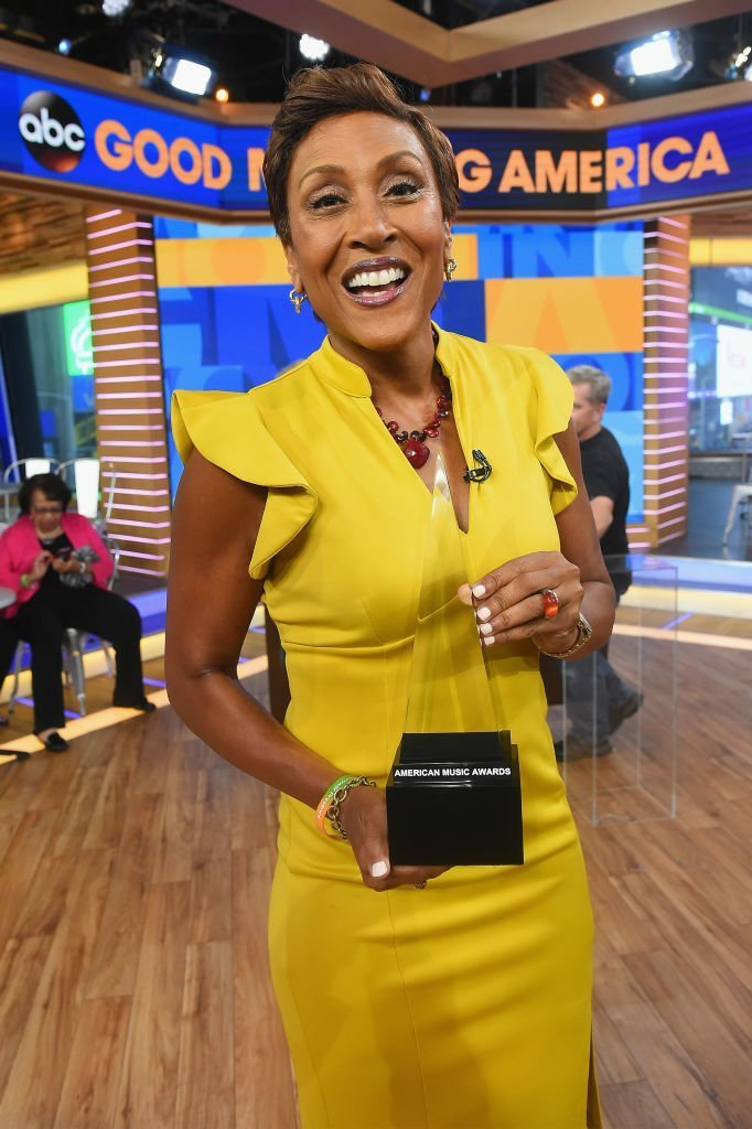 """""""Good Morning America"""" anchor Robin Roberts on October 12, 2017 in New York City 