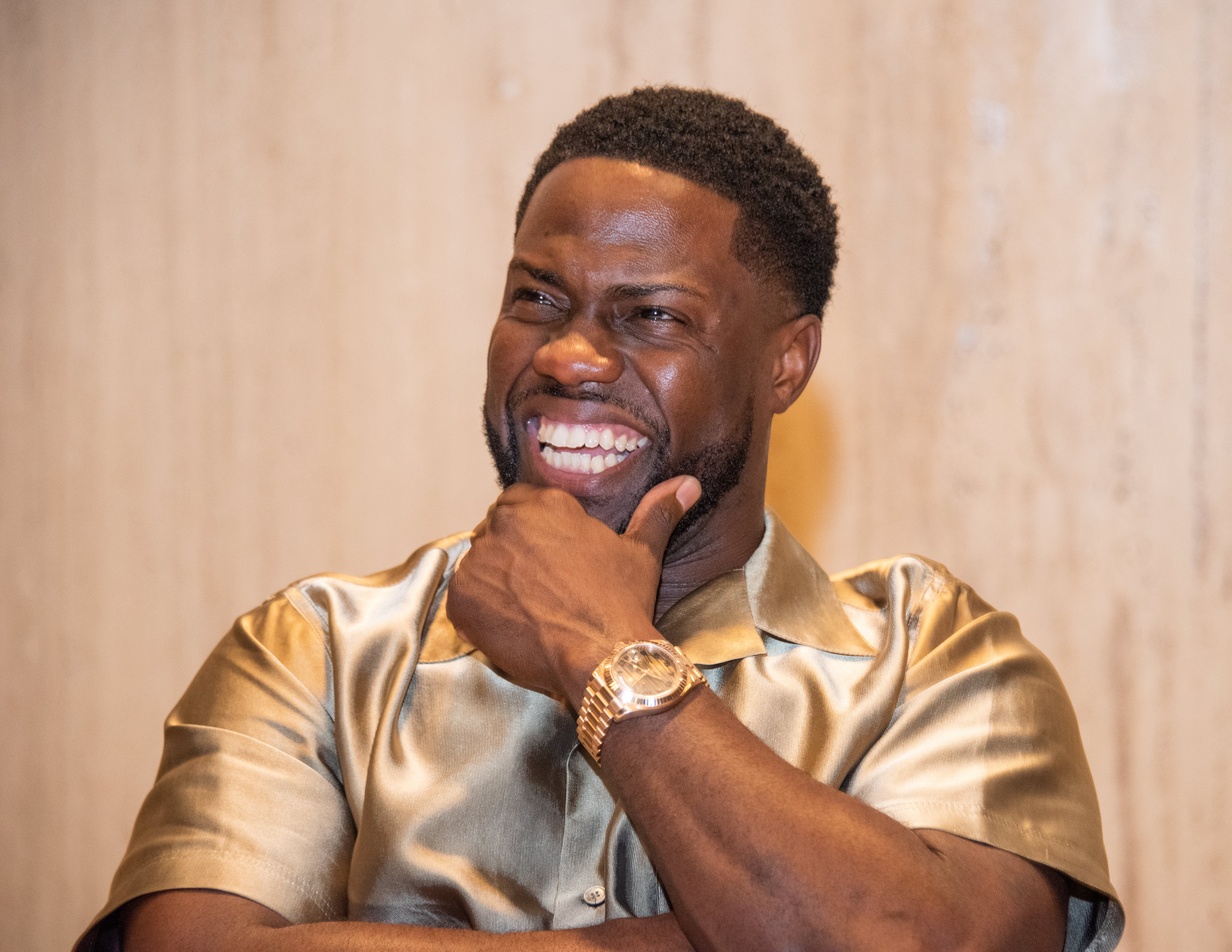 """Kevin Hart at the """"Jumanji: Next Level"""" press conference in Cabo San Lucas on November 23, 2019. 