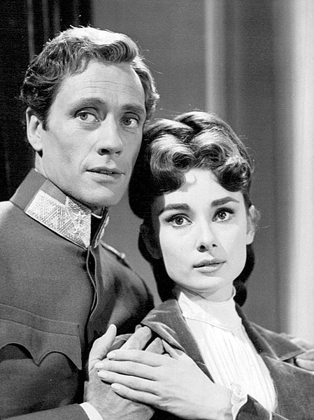 """Audrey Hepburn and Mel Ferrer from the Producers' Showcase presentation of """"Mayerling."""" 
