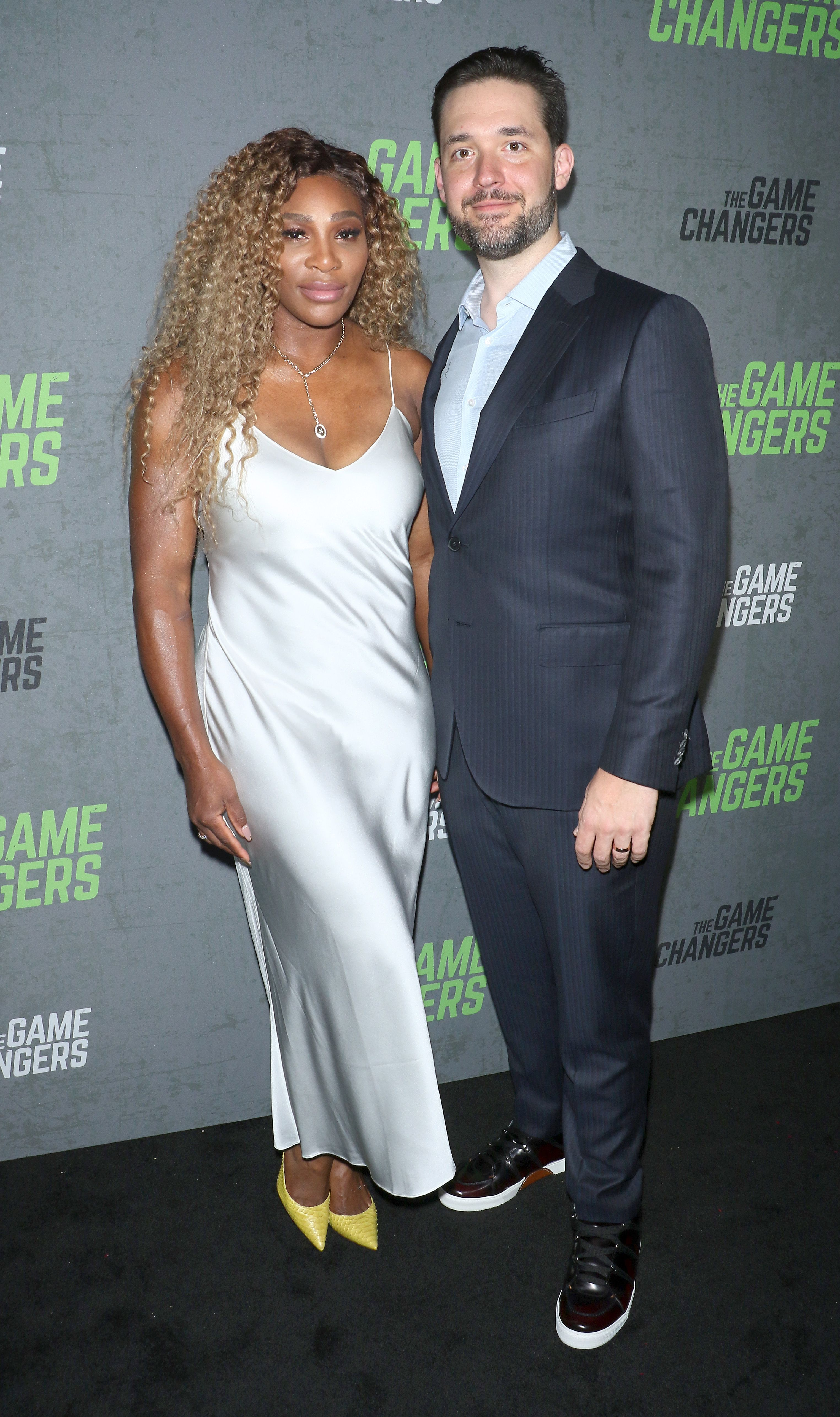 """Serena Williams and Alexis Ohanian atthe """"The Game Changers"""" New York premiere at Regal Battery Park 11 on September 09, 2019  Photo:Jim Spellman/Getty Images"""