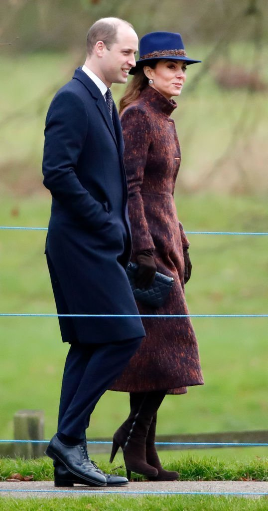 Prince William, Duke of Cambridge and Catherine, Duchess of Cambridge attend Sunday service at the Church of St Mary Magdalene on the Sandringham estate on January 5, 2020. | Photo: Getty Images