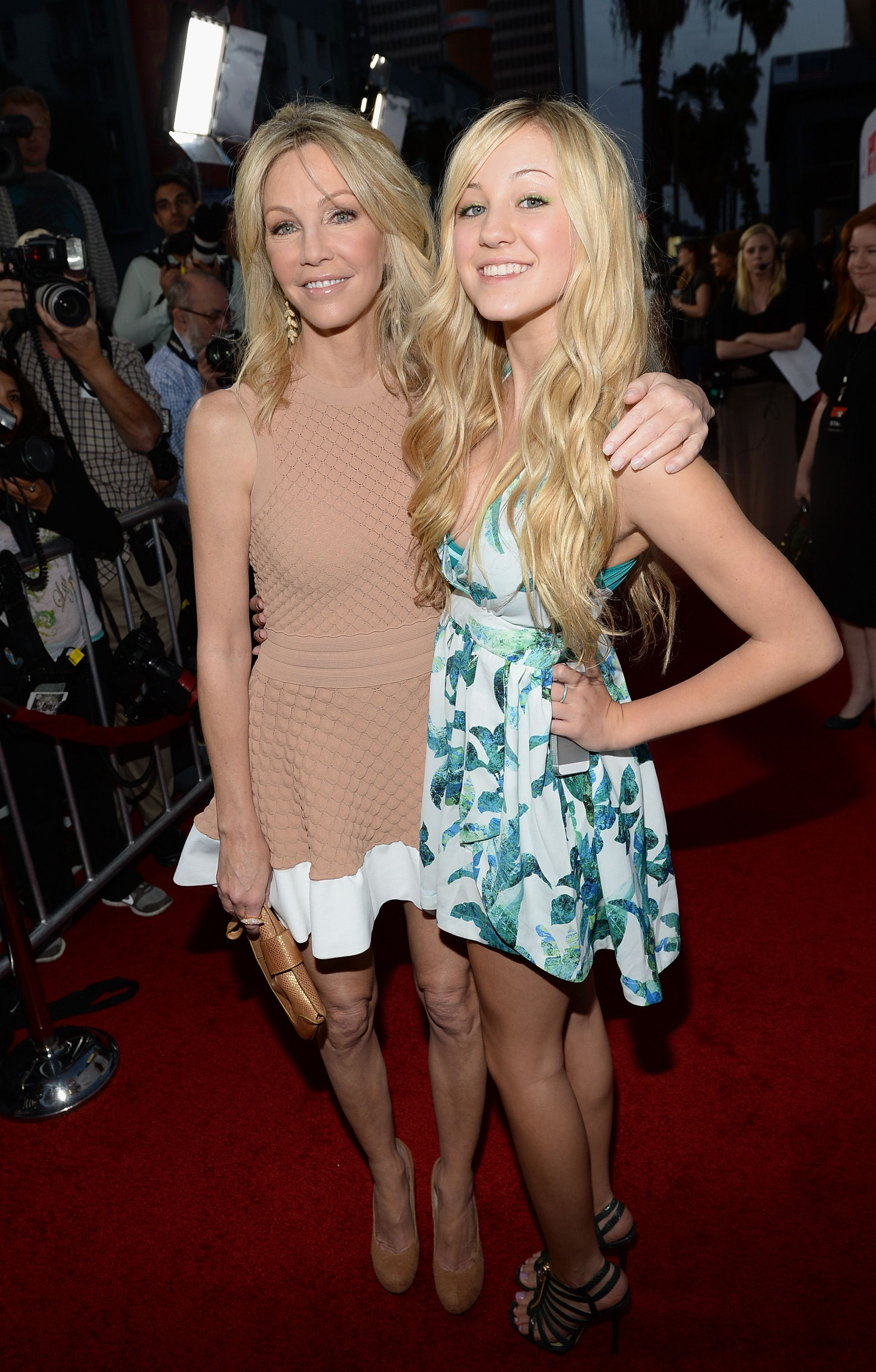 """Heather Locklear and Ava Sambora at the premiere of """"Scary Movie 5"""" on April 11, 2013, in Hollywood, California 