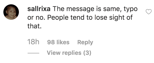 A fan stands by Prince Harry and Meghan Markle for apologising for the typo in their instagram post with a Quote by Maya Angelou | Source: instagram.com/sussexroyal