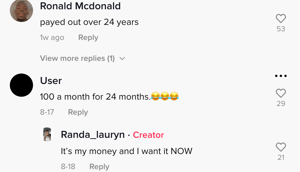 Netizens respond to a video of a woman considering signing up for a job at Dairy Queen | Photo: TikTok/randa_lauryn