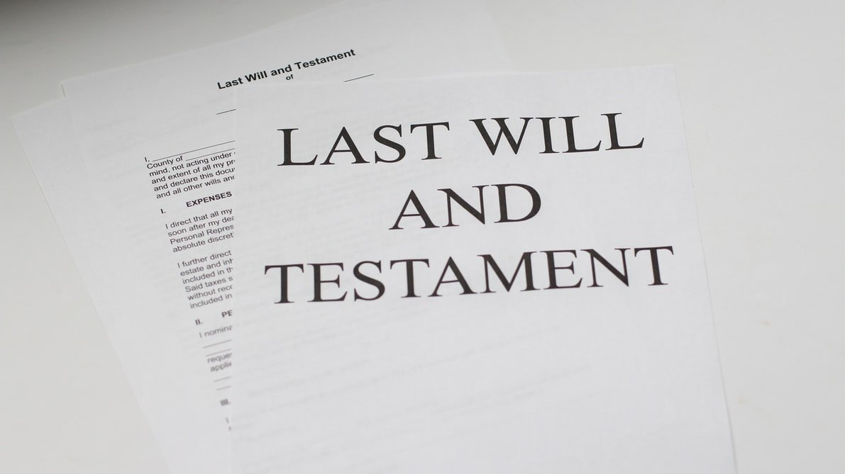 Esther's Last Will and Testament leaving it all to Jack   Source: Unsplash