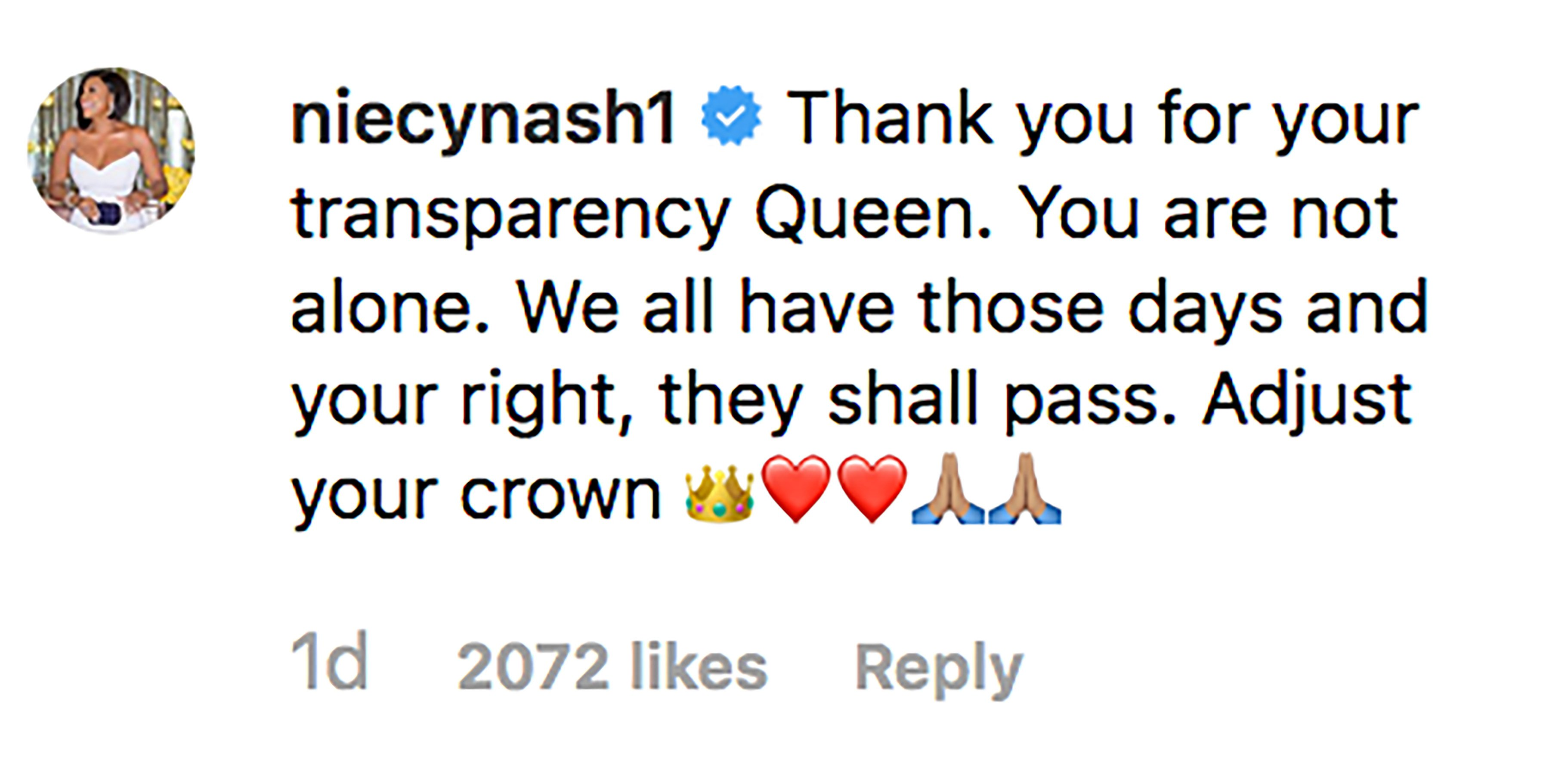 Niecy Nash comment on Lizzo's post. | Source: Instagram/lizzobeeating