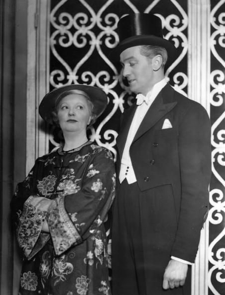 Marion Lorne and Edwin Styles, from a scene in 'London After Dark' by Walter Hackett, playing at the Apollo Theatre in London in 1937. | Source: Getty Images.