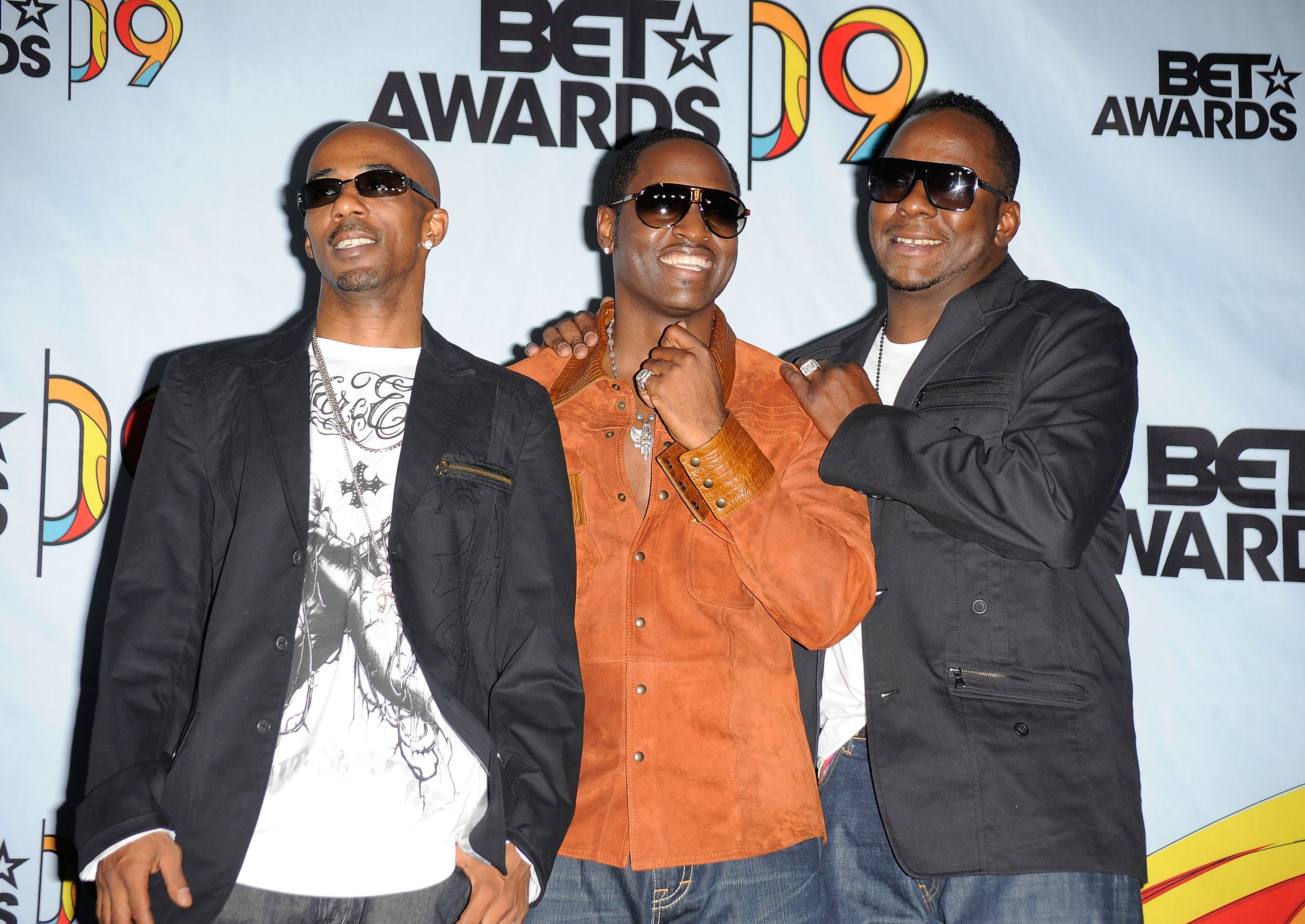 Ralph Tresvant, Johnny Gill and Bobby Brown at the 2009 BET Awards. | Source: GettyImages
