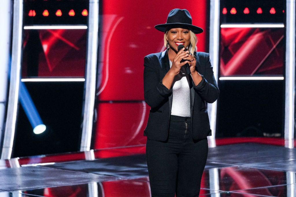 "Myracle Holloway at the Season 17 ""The Voice"" blind auditions in December 2019 