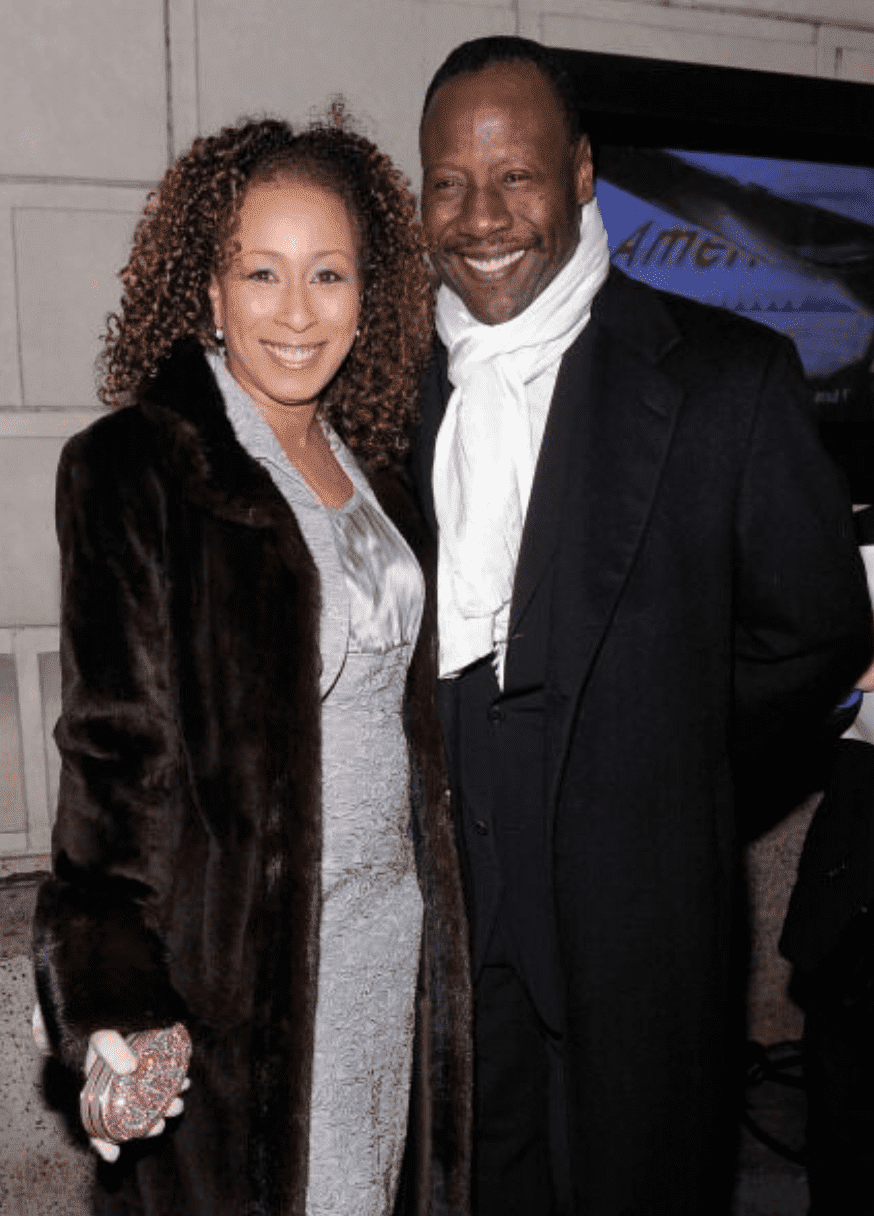 "Tamara Tunie and Gregory during ""The Gershwins' Porgy and Bess"" Broadway opening night. 
