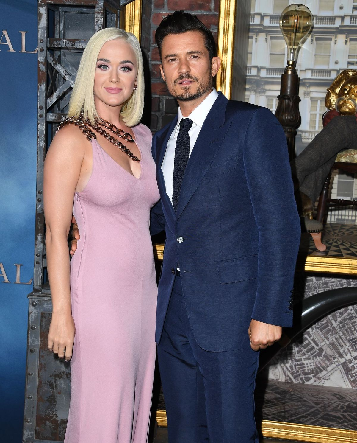 "Katy Perry and Orlando Bloom at the Los Angeles premiere of ""Carnival Row"" on August 21, 2019. 