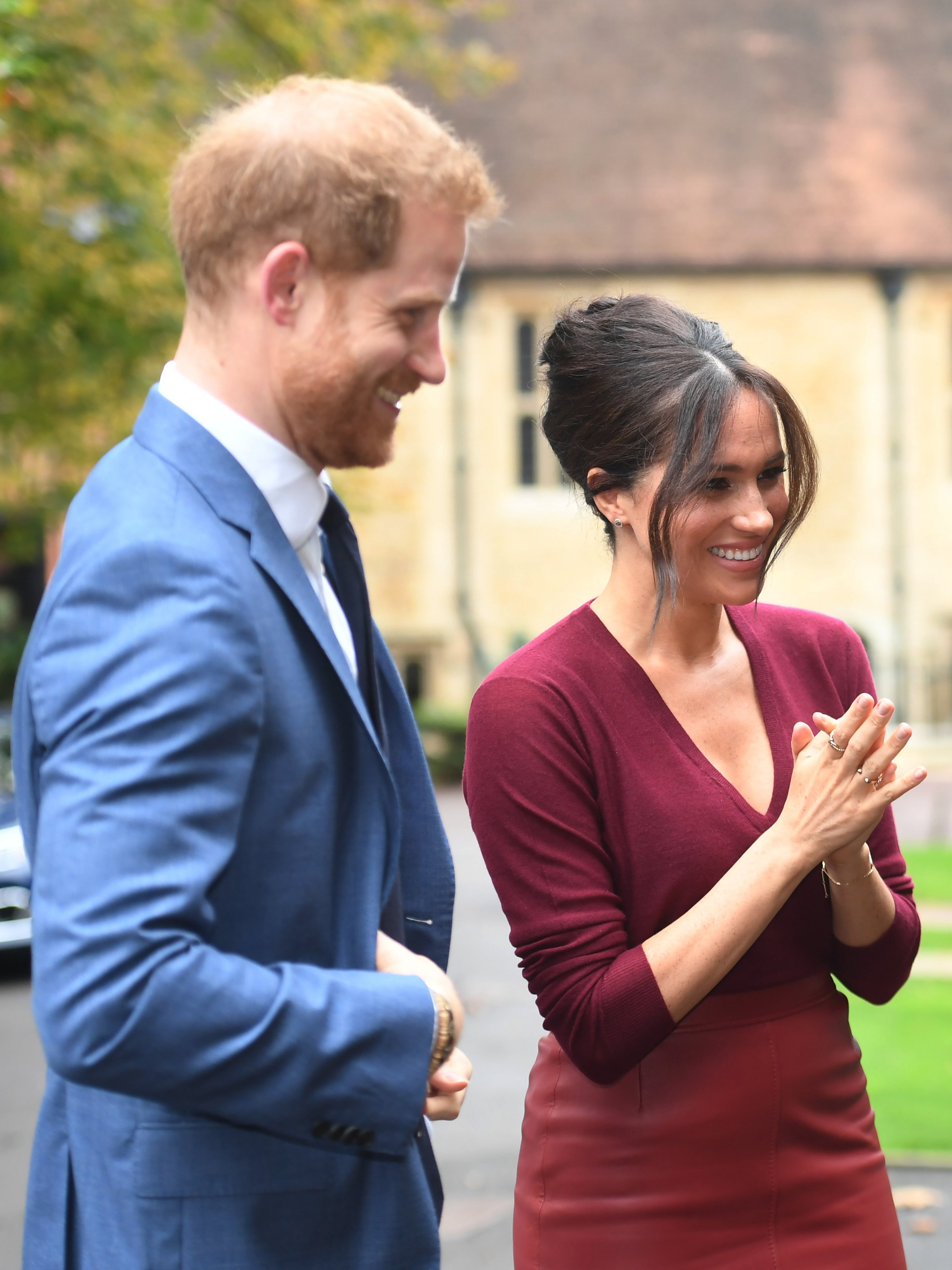 Meghan Markle and Prince Harry attend a roundtable discussion on gender equality with The Queens Commonwealth Trust (QCT) and One Young World at Windsor Castle on October 25, 2019 in Windsor, England | Photo: Getty Images