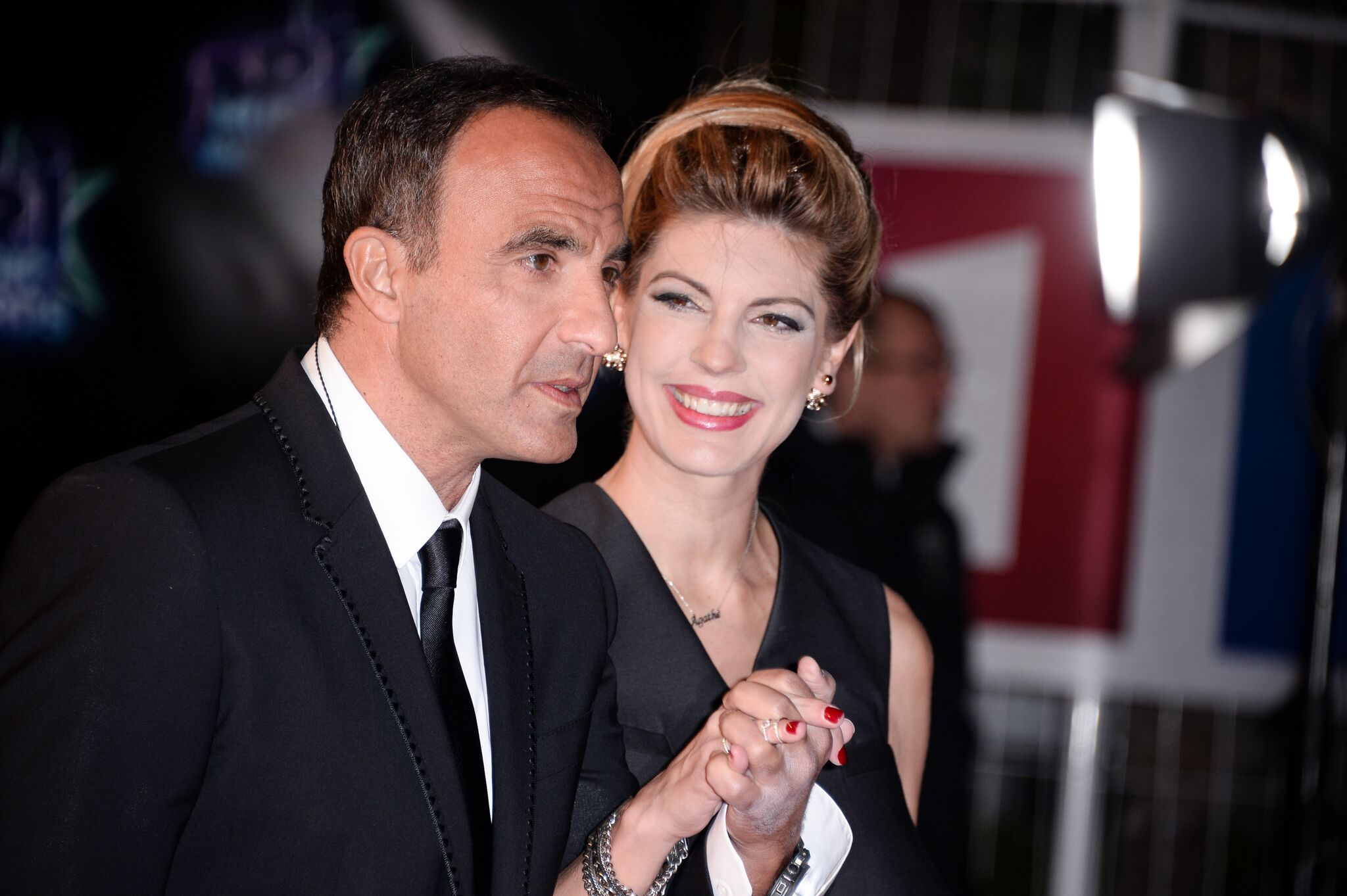 Nikos et sa compagne Tina. l Source: Getty Images