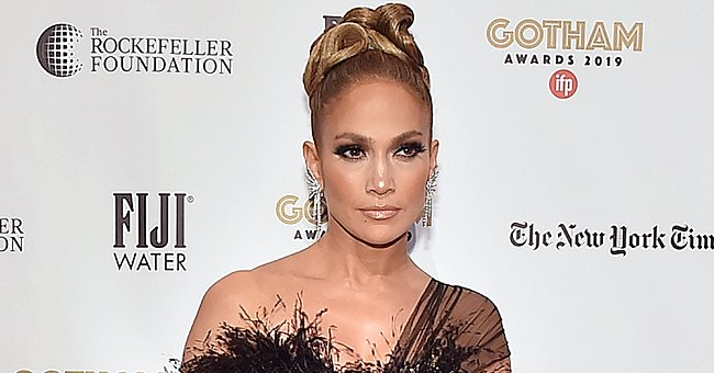 Jennifer Lopez Looks Breathtaking in Black Feathered Gown at the Gotham Independent Film Awards