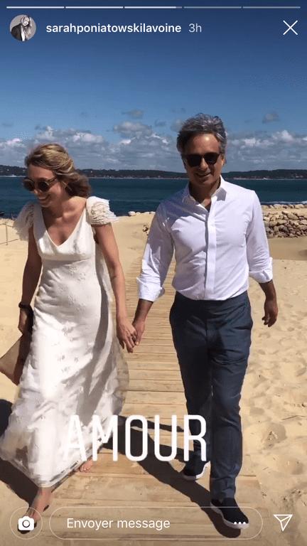 Laura Smet et son mari Raphaël Lancrey-Javal, le jour de leur mariage. | Capture d'écran Story Instagram/sarahponiatowskilavoine