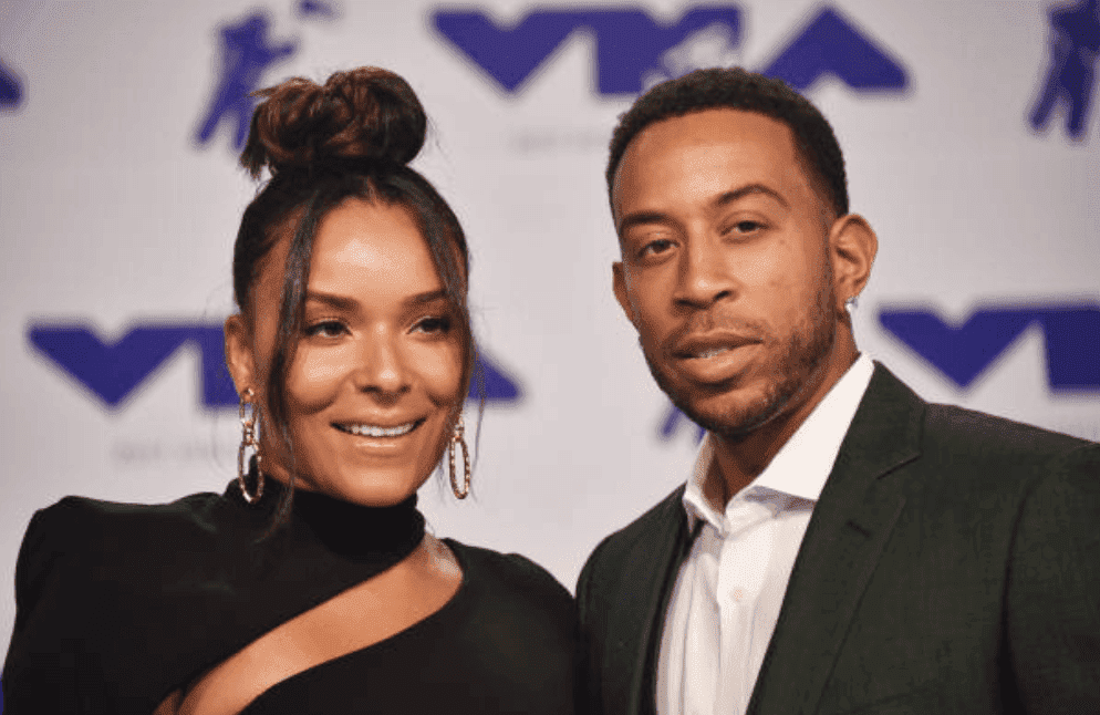 Ludacris and his wife, Eudoxie Mbouguiengue arrive on the red carpet at the 2017 MTV Video Music Awards, on August 27, 2017, in Inglewood, California | Source: C Flanigan/Getty Images