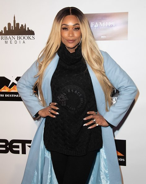 """Tami Roman at BET's The Family Business"""" Special Screening on January 7, 2019   Photo: Getty images"""
