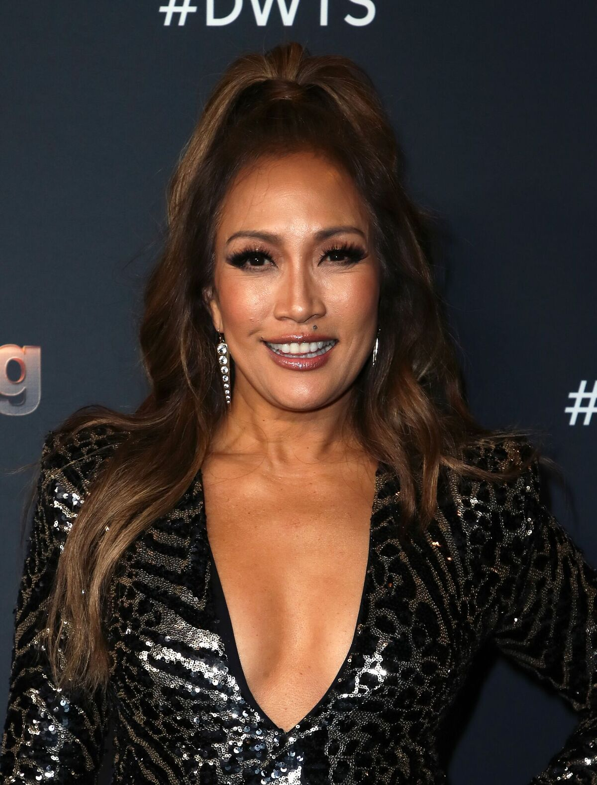 """Carrie Ann Inaba attends """"Dancing With The Stars"""" Season 28 Top 6 Finalists at Dominque Ansel at The Grove on November 04, 2019 in Los Angeles, California 