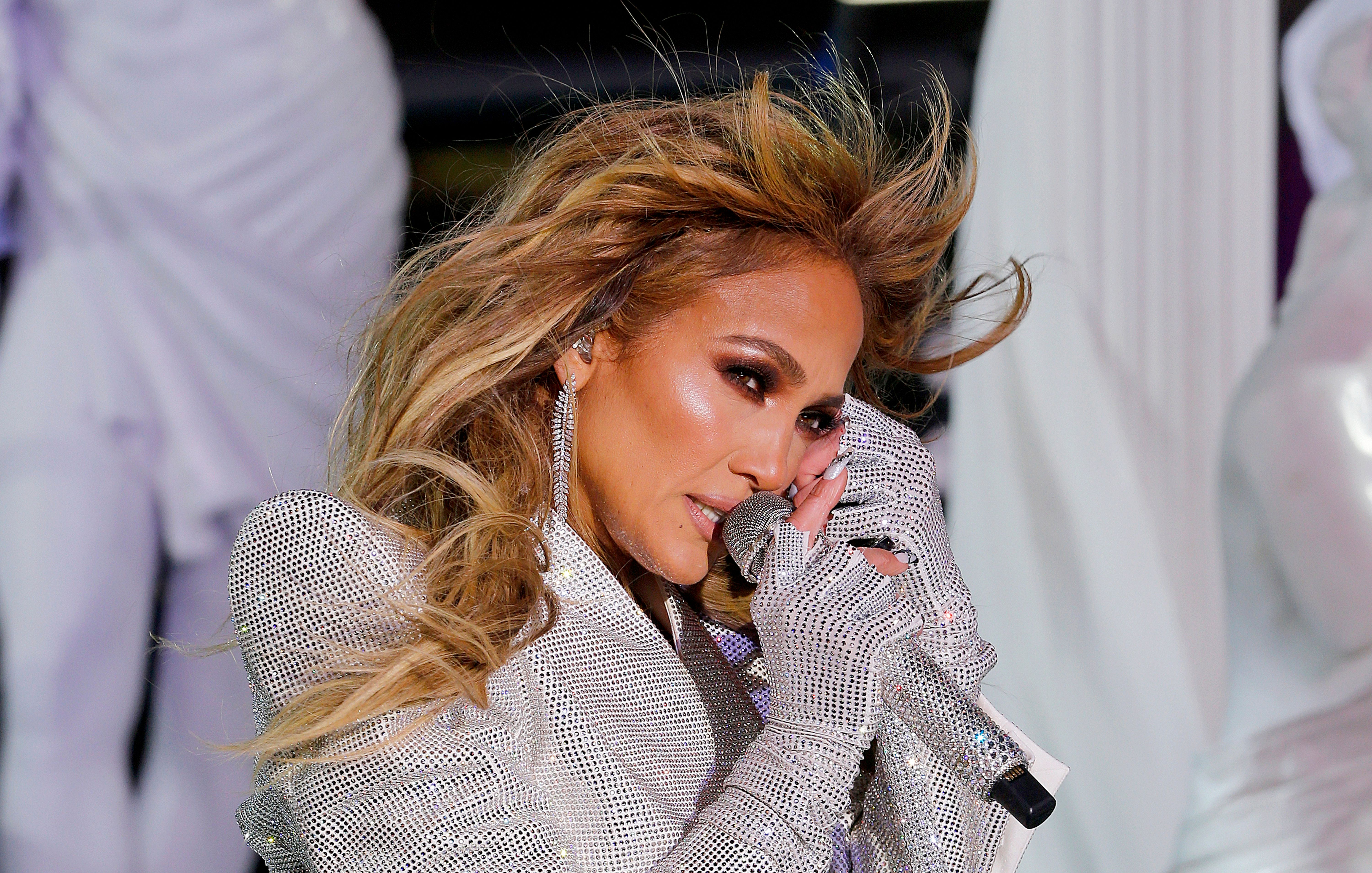 Jennifer Lopez live from Times Square during 2021 New Year's Eve celebrations on December 31, 2020 |Getty Images