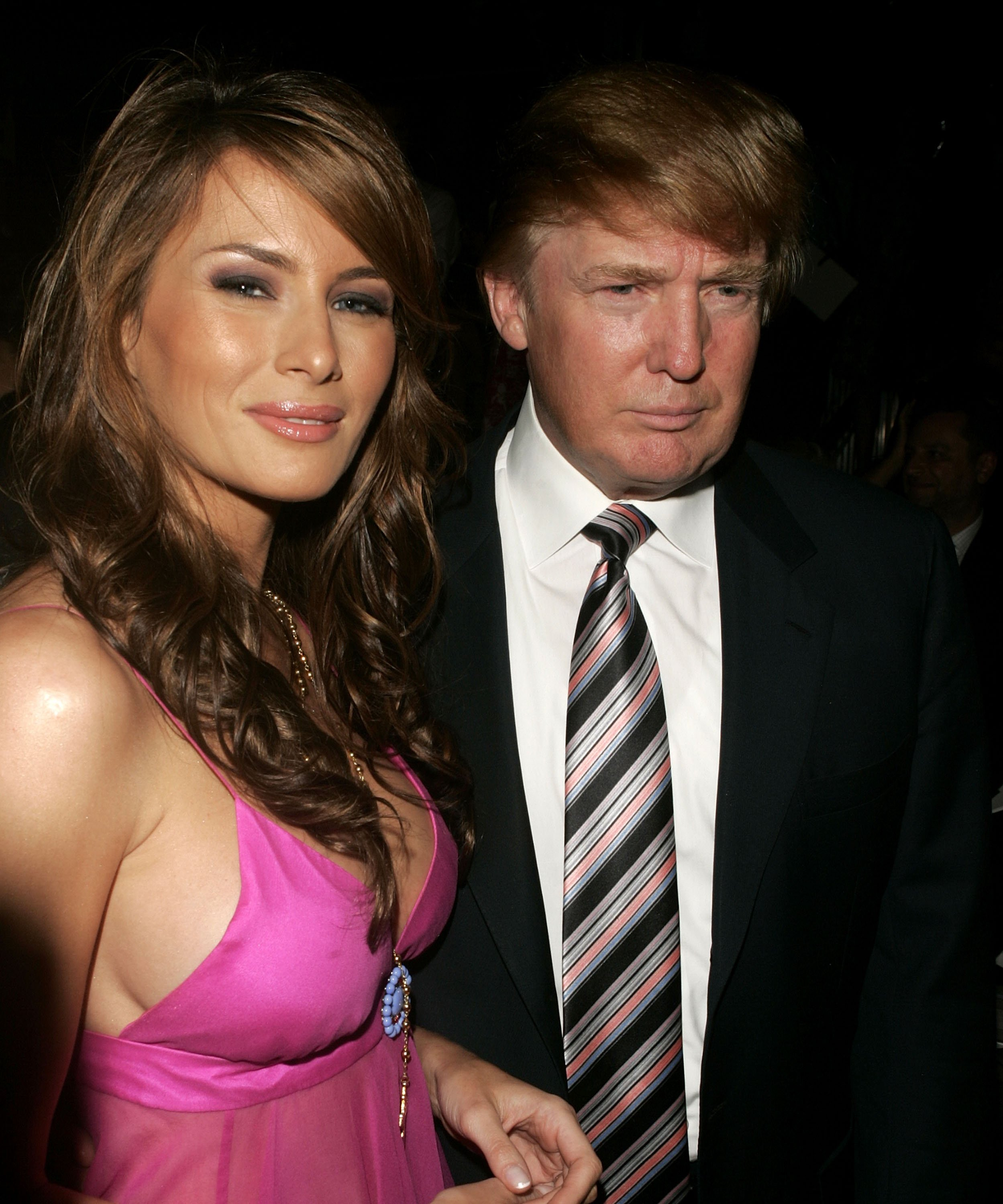 Donald and Melania Trump at Olympus Fashion Week in 2005 | Photo: Getty Images