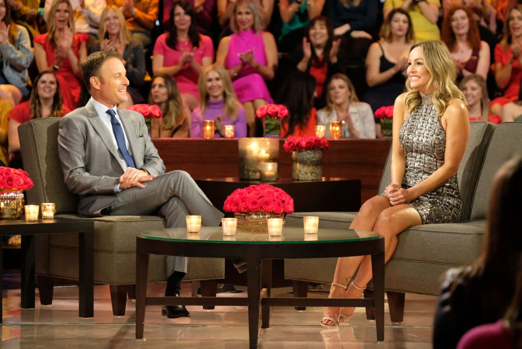 The new bachelorette Clare Crawley with Chris Harrison | Photo: Getty Images