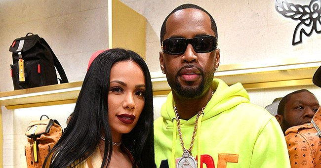 L&HH Stars Safaree & Erica Mena Melt Hearts Kissing Daughter Safire in a Sweet Family Photo