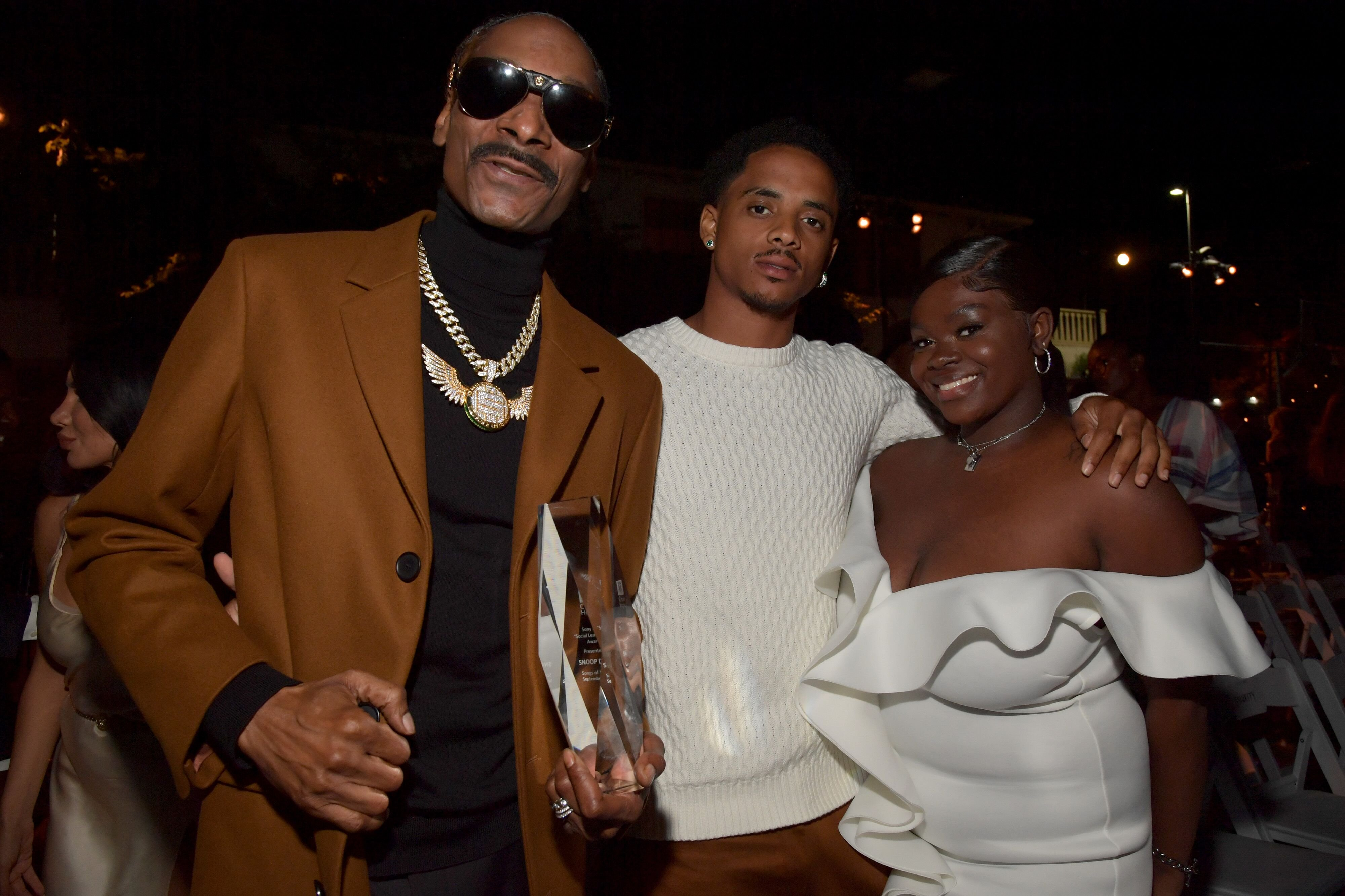 Snoop Dogg, Cordell Broadus and Cori Broadus attend City of Hope: 15th Annual Songs of Hope on September 19, 2019 in Sherman Oaks, California. | Source: Getty Images