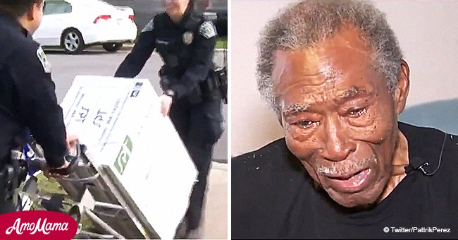 Austin police officers donate heating unit to senior Navy and Army WWII veteran in need, age 92