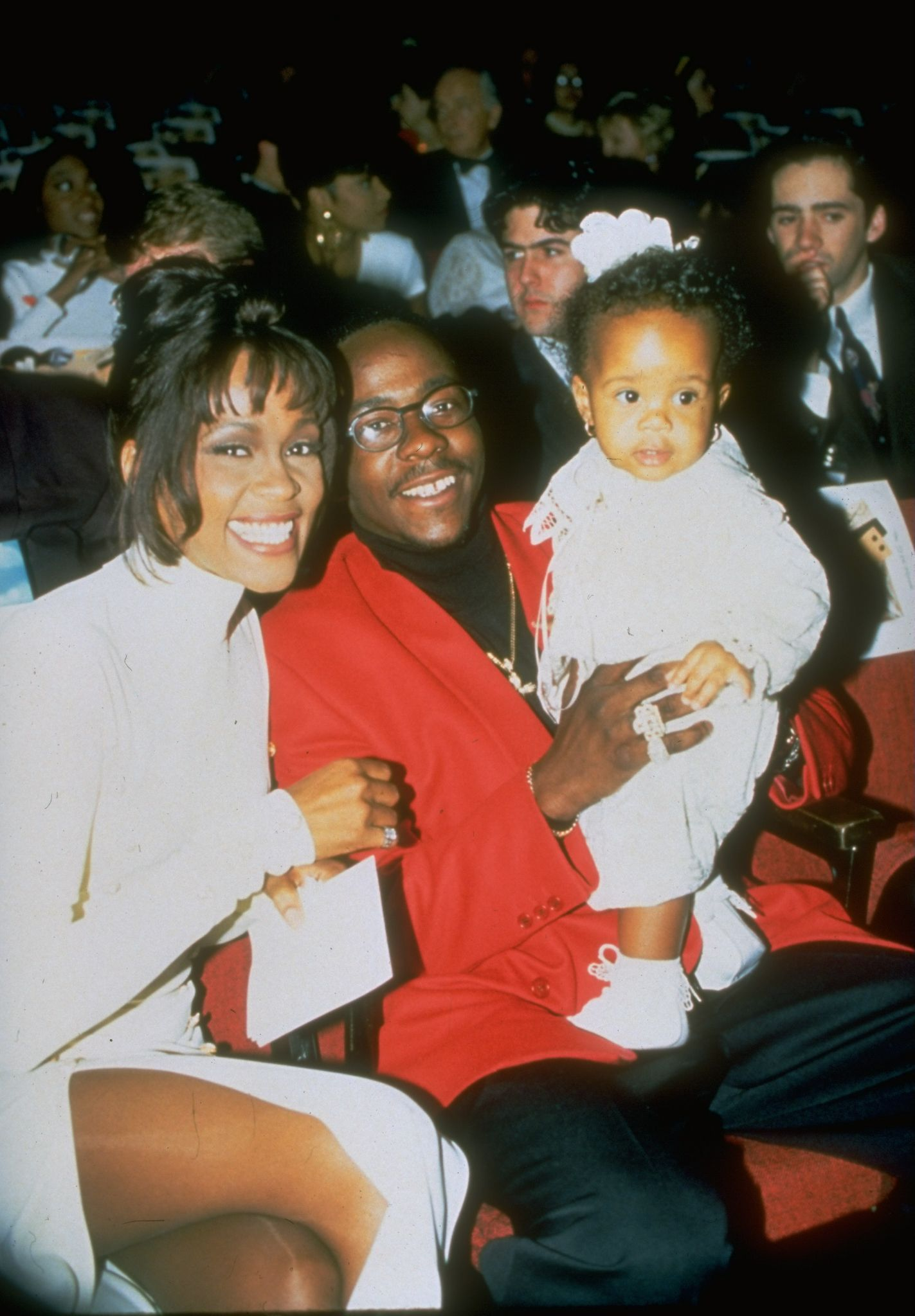Whitney Houston, Bobby Brown and Bobbi Kristina in 1993 | Source: Getty Images
