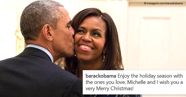 Barack Obama's new photo of him & Michelle is full of love and heartwarming Christmas wishes