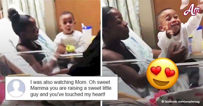 Adorable video of boy meeting his little baby sister for the first time has the internet swooning