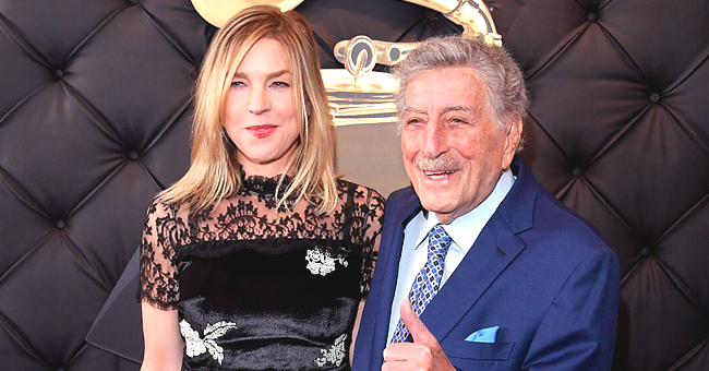 Singer Tony Bennett Poses with 40-Years-Younger Wife Susan Crow as They Celebrate Her Birthday