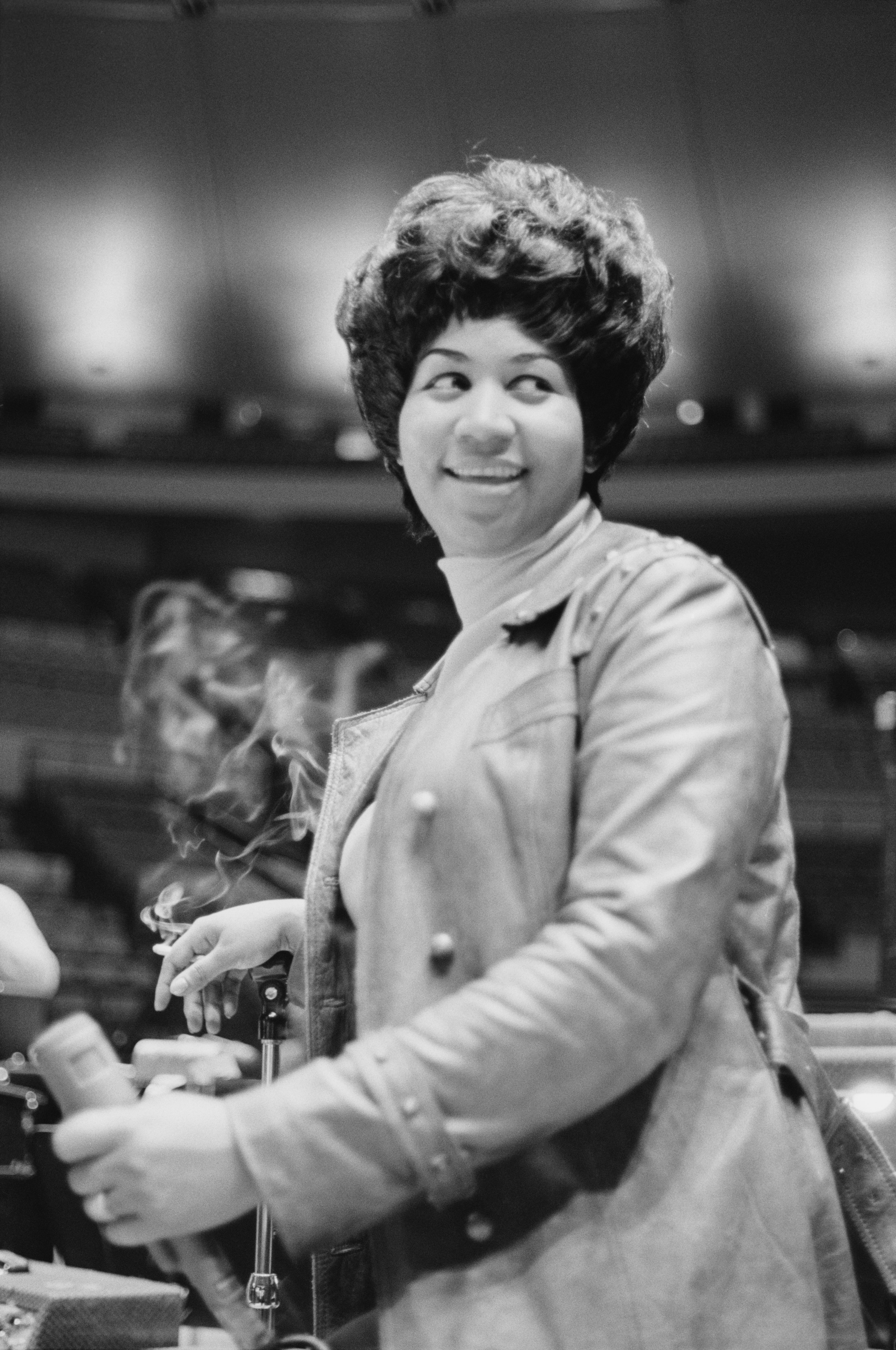 """Aretha Franklin during rehearsals for the """"Soul Together"""" show in June 1968.   Photo: Getty Images"""