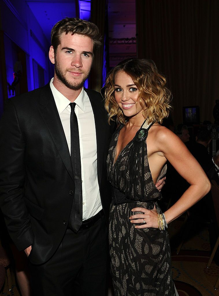 Miley Cyrus and Liam Hemsworth at Muhammad Ali's Celebrity Fight Night XVIII.   Source: Getty Images