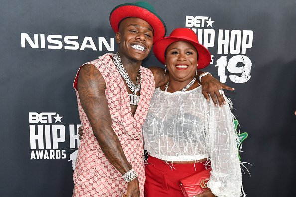 Rapper DaBaby and his mom at the 2019 BET Hip Hop Awards on October 05, 2019 | Photo: Getty Images