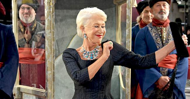 Actress Helen Mirren Stuns as She Is Carried in at 'Catherine the Great' Premiere
