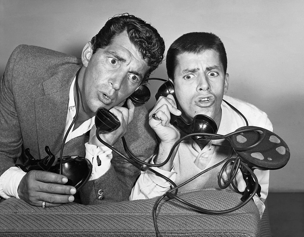 Dean Martin and Jerry Lewis, entertainers and hosts of their own NBC radio show, react at the news that the presentation of Redbook magazine's 14th Annual Silver Cup Movie Award will be made on their show.   Source: Getty Images