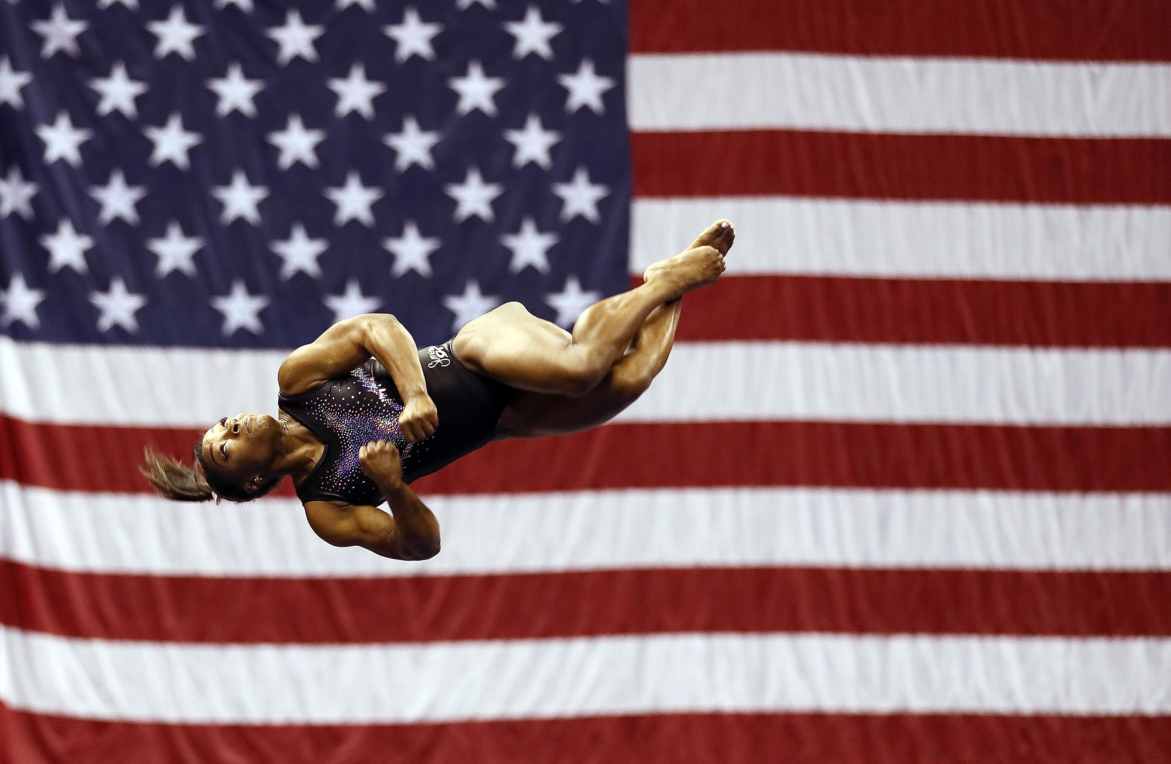 Simone Biles at the World Championships/ Source: Getty Images